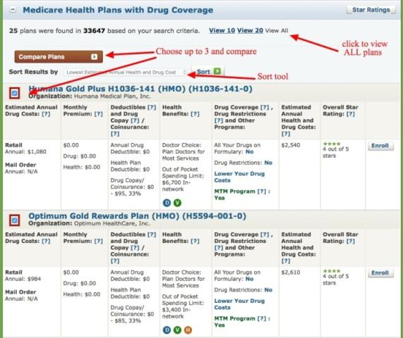 Compare Tool Medicare.gov
