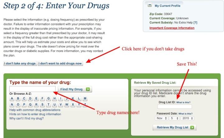 Save Your Drug List ID