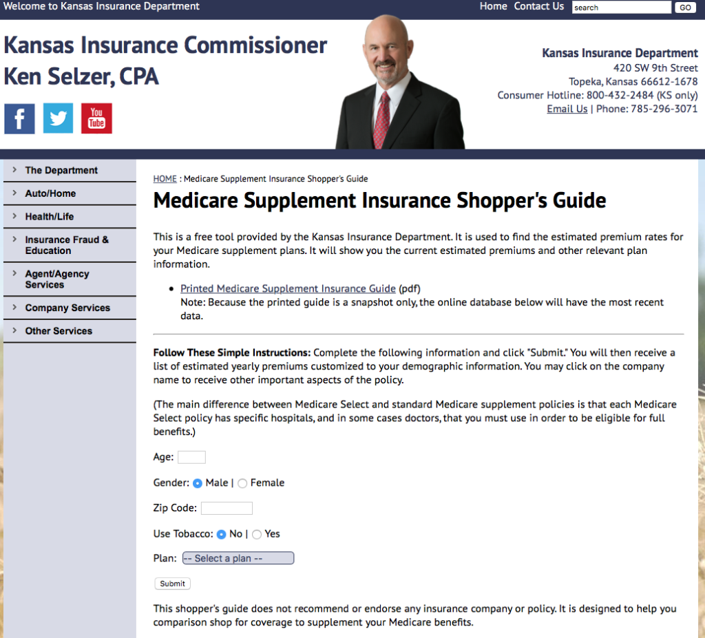 Kansas Medicare Supplement Insurance Shoppers Guide